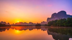 Lake Nature Reflection Sunrise 2048x1366 Wallpaper