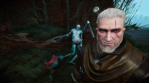 The Witcher The Witcher 3 The Witcher 3 Wild Hunt CD Projekt RED Geralt Of Rivia The White Wolf Smil 1920x1080 wallpaper