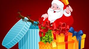 Bell Christmas Gift Reindeer Santa 3000x2000 Wallpaper