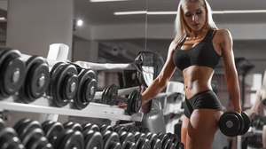 Blonde Fitness Girl Weightlifting Woman 2560x1707 Wallpaper