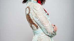 Anya Taylor Joy Women Actress Brunette Studio Simple Background Gray Background Shoulder Length Hair 1365x2048 Wallpaper