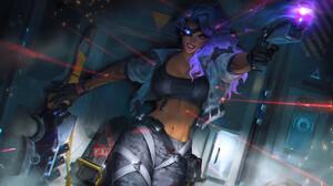 Samira League Of Legends Adcarry ADC League Of Legends Riot Games Shot 3840x2160 Wallpaper