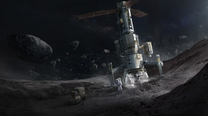 Asteroid Astronaut 1920x1080 wallpaper