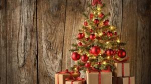 Christmas Christmas Tree Gift Wood 2448x1920 Wallpaper