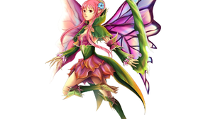 Colorful Fairy Fantasy Girl Pink Hair 1920x1440 Wallpaper
