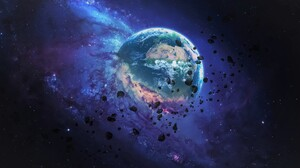 Space Asteroid Earth 5200x3250 Wallpaper