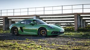Green Car Porsche Porsche 718 Cayman Gts Sport Car 5120x2880 Wallpaper