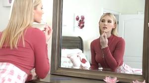 Women Blonde Blue Eyes Long Hair Mirror Reflection Lip Gloss 2000x1334 Wallpaper