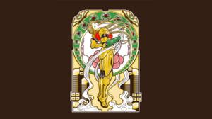 Metroid Samus Aran Alphonse Mucha 1600x900 wallpaper