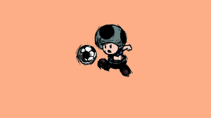 Soccer Toad Mario 2850x1650 wallpaper