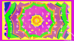 Abstract Colorful Digital Art Geometry Green Kaleidoscope Shapes Yellow 1920x1080 Wallpaper