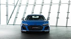 Audi Audi R8 Audi R8 V10 Blue Car Car Sport Car Supercar Vehicle 3840x2160 Wallpaper