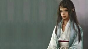 Artistic Girl Kimono 2880x1800 wallpaper