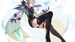 Anime Anime Girls Digital Art Artwork 2D Portrait Display Vertical Lumo 1121 Genshin Impact Eula Gen 4216x4231 Wallpaper