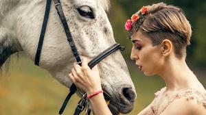 Girl Horse Profile 6016x4016 Wallpaper