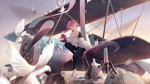 Anime Anime Girls Digital Art Artwork 2D Portrait RiVER Artist Arknights Blue Poison Arknights Airpl 6001x3372 wallpaper