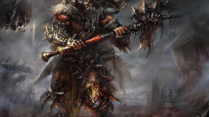 Barbarian Diablo Iii Diablo Iii 3300x2836 Wallpaper