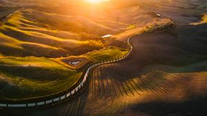 Road Sunset 2048x1152 wallpaper