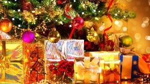 Christmas Tree Gift Decoration 2880x1800 Wallpaper