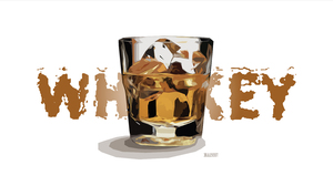 Alcohol Artistic Digital Art Drink Glass Ice Ice Cube Whisky 3000x1688 Wallpaper
