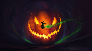 Halloween Jack O 039 Lantern Witch 3840x2160 Wallpaper