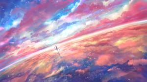 Cat Cloud Reflection Sky 1920x1080 Wallpaper