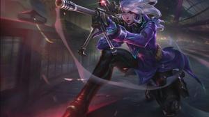 Sniper Rifle Weapon White Hair Woman Warrior 1920x1308 Wallpaper