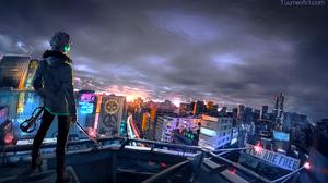 Anime Boys Yuumei Fisheye Placebo Violin City 2000x1192 Wallpaper