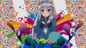 Anime Anime Girls Izumi Sagiri Eromanga Sensei Colorful Stars 1920x1080 Wallpaper