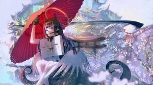 Anime Girls Umbrella Sorrowny Hololive Ninomae Inanis Virtual Youtuber 2560x1440 Wallpaper