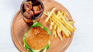 Burger Drink French Fries 3600x2400 Wallpaper