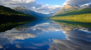 Nature River Mountains Forest Trees Reflection Clouds 1920x1280 Wallpaper