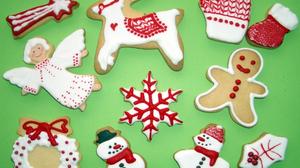 Angel Christmas Cookie Gingerbread Reindeer Snowflake Snowman 1920x1440 Wallpaper