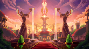 Digital Art Clouds Water Planet Building World Of Warcraft Blood Elf Blood Elves Fan Art Fountain 1920x1080 Wallpaper