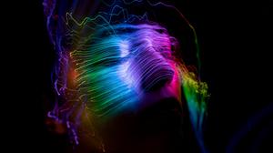 Face Lines Colors 5120x2880 Wallpaper