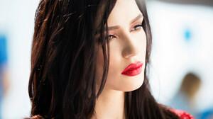 Olga Seryabkina Women Singer Molly Russian Dark Hair Long Hair Olga Red Lipstick 1280x853 wallpaper