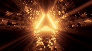 Abstract Tunnel Triangle Neon 4K 3840x2160 Wallpaper