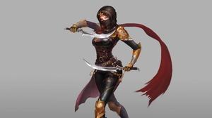 Dagger Girl Woman Warrior 3200x1700 Wallpaper
