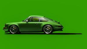 Artwork Car Porsche Green Simple Background 1920x948 Wallpaper