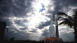 LM 5 Heavy Rocket Change 5 Sky Rocket Vehicle Outdoors Clouds 7570x5023 Wallpaper