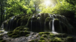 Moss Nature Waterfall 3840x2160 wallpaper