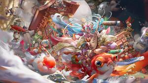 Artwork ArtStation Colorful Fantasy Art Fantasy Girl Musical Instrument 1920x957 Wallpaper