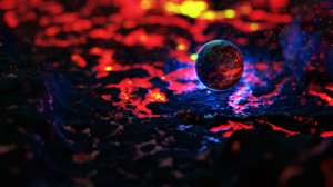 Blender Lava Planet 3D Abstract Particle CGi Digital Art 3840x2160 Wallpaper