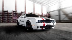 Dodge Challenger Dodge Car White Car Muscle Car 3000x2000 wallpaper