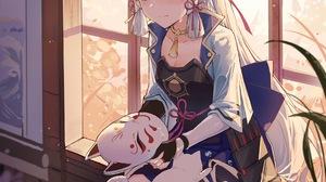 Ya Ju Anime Anime Girls Genshin Impact Kamisato Ayaka Genshin Impact 3293x4740 wallpaper