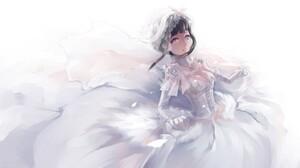 Naruto Shippuuden Hyuuga Hinata Wedding Dress Anime 1500x844 Wallpaper
