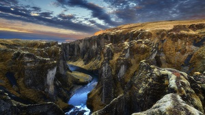 Canyon Cliff Nature River 2000x1334 Wallpaper