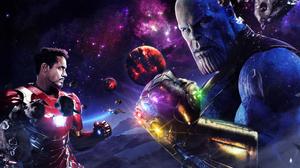 Iron Man Robert Downey Jr Thanos 1920x1080 Wallpaper