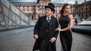 Women Model Ivan Gorokhov Paris 500px Men Louvre France Top Hat The Penguin 2000x1333 Wallpaper