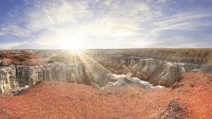 Panorama Usa Canyon Sunbeam Rock 5325x1877 Wallpaper